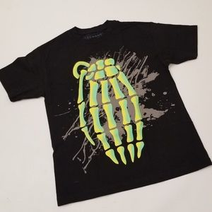 Other - Grenade  Graphic T- Shirt Green Skeleton :Size M